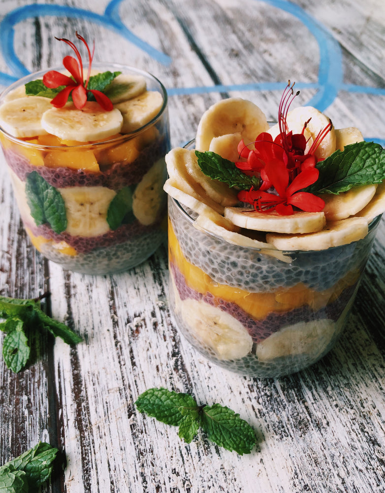 Tropical Chia Pudding Parfait