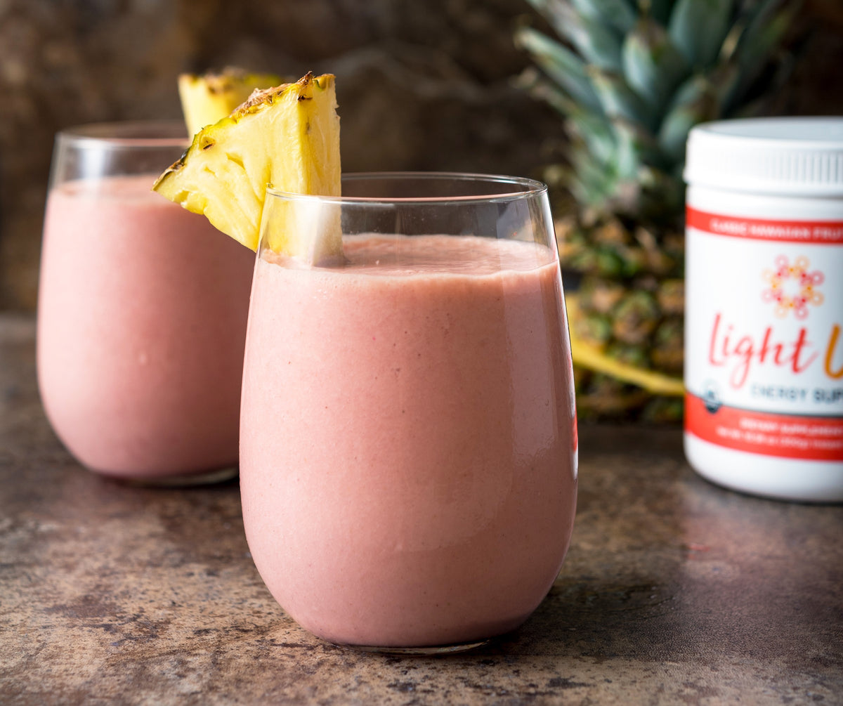 Light Up Pineapple Coconut Smoothie