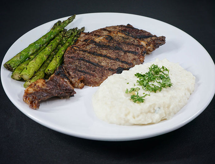 Ribeye Steak w/ Cauliflower Puree!