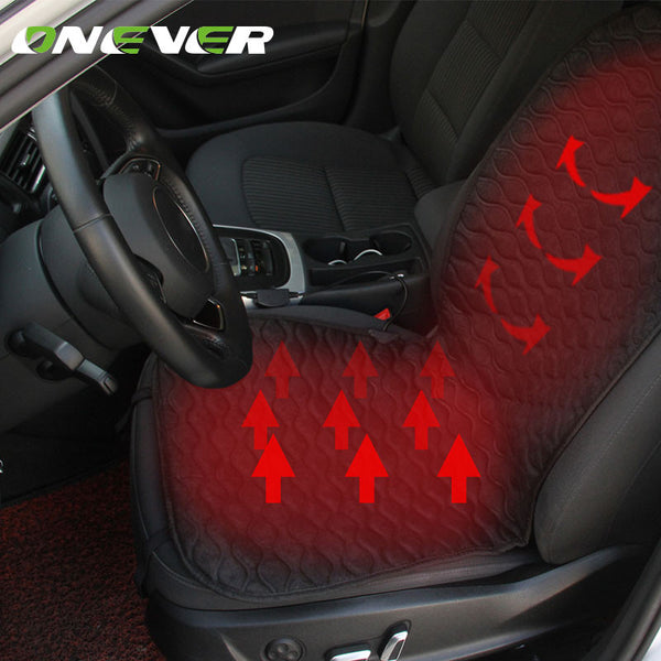 Onever DC12V Heated Car Seat Cushion Cover Heater Warmer Winter Household Driver