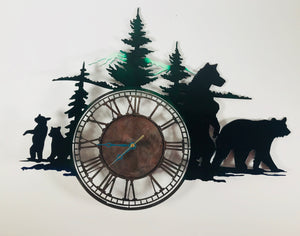 metal bear clock