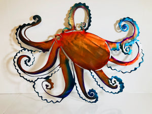 Octopus metal art