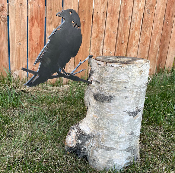 Raven Metal Art Bird