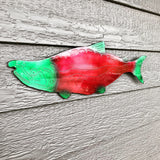 red salmon metal art