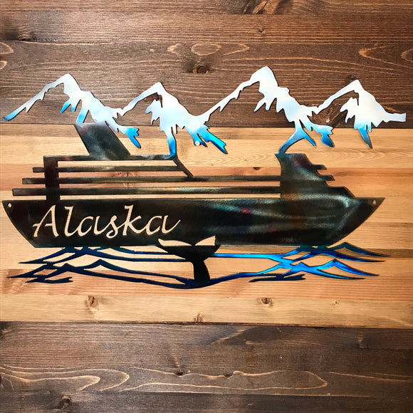 Alaska Cruise Ship Commemorative Metal Art