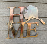 Alaska Home Metal Art Sign