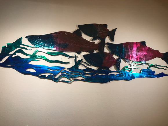 salmon metal art