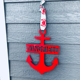 Marine Anchor Monogram Sign