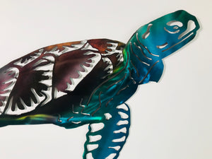 sea turtle metal art