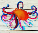 Octopus Gorgeous Metal Wall Art