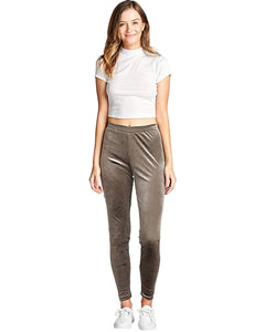 Velvet Knit Pants - Grey