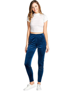 Velvet Knit Pants - Navy