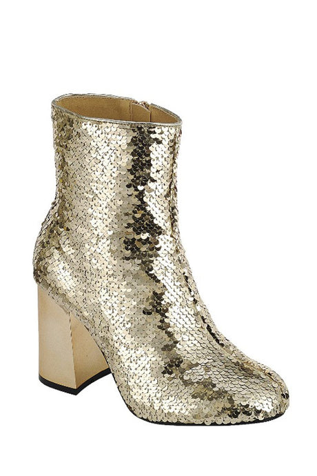 Sequence Combat Ankle Boots - Gold