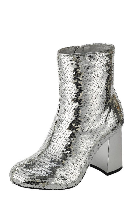 Sequence Combat Ankle Boots - Silver