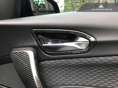Shop AutoTecknic Dry Carbon Interior Door Handle Trims - F20 1-Series | F22 2-Series | F87 M2 - AutoTecknic