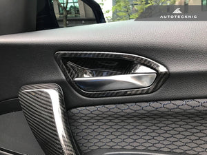 Shop AutoTecknic Dry Carbon Interior Door Handle Trims - F20 1-Series | F22 2-Series | F87 M2 - AutoTecknic USA
