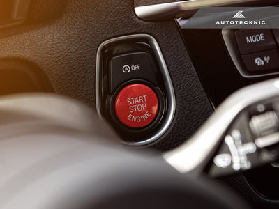 Shop AutoTecknic Bright Red Start Stop Button - BMW F-Chassis Vehicles - AutoTecknic