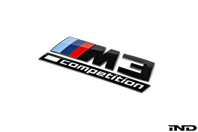 Shop IND Competition Gloss Black Trunk Emblem - F80 M3 - AutoTecknic USA