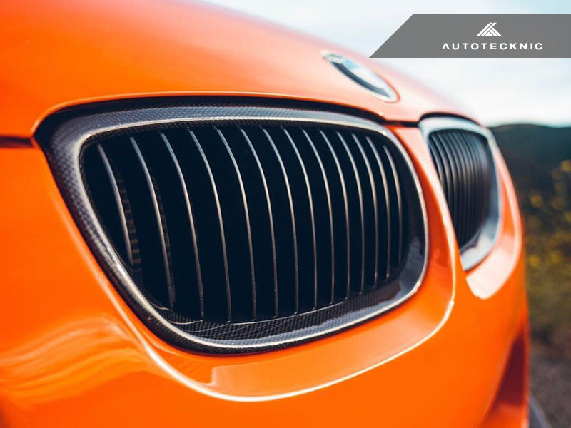 AutoTecknic Replacement Carbon Front Grilles - E92/ E93 3-Series (Including E9X M3) - AutoTecknic USA
