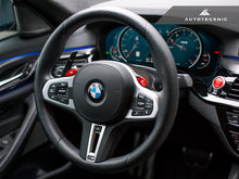 AutoTecknic Carbon Steering Wheel Top Cover - F90 M5