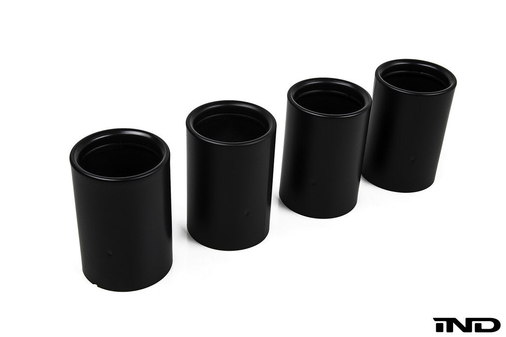 IND Matte Black Coated Exhaust Tip Set - F10 M5 | F06/ F12/ F13 M6 - AutoTecknic USA