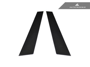 AutoTecknic Carbon Fiber B-Pillar Covers - Audi A4 Sedan (02-05)