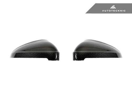 AutoTecknic Replacement Carbon Mirror Covers - Audi B9 A4/ S4 | F5 A5/ S5 2016-Up - AutoTecknic USA