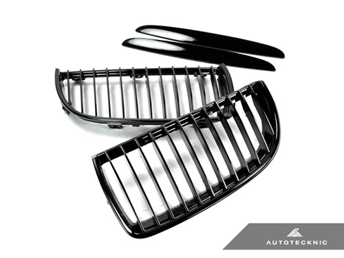 AutoTecknic Replacement Glazing Black Front Grilles - E90 Sedan / E91 Wagon | 3 Series