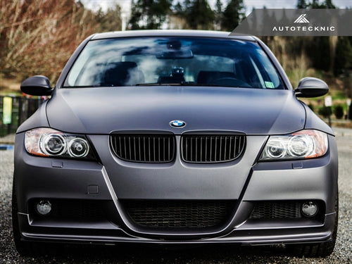 AutoTecknic Replacement Glazing Black Front Grilles - E90 Sedan/ E91 Wagon | 3 Series - AutoTecknic USA