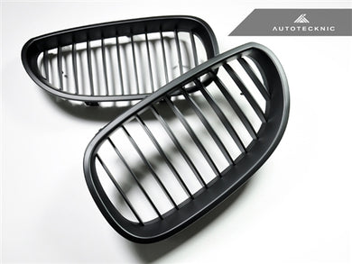 AutoTecknic Replacement Stealth Black Front Grilles - E60 5-Series | M5