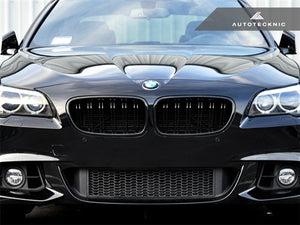 AutoTecknic Replacement Dual-Slats Glazing Black Front Grilles - F10 5-Series