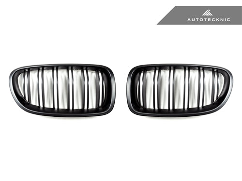 AutoTecknic Stealth Black Dual-Slats Front Grilles - F10 5-Series | M5 - AutoTecknic USA