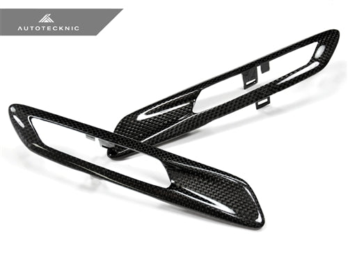 AutoTecknic Replacement Carbon Fiber Fender Light Trims - F10 Sedan / F11 Wagon | 5 Series
