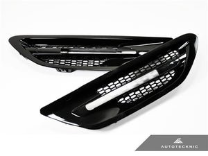 AutoTecknic Replacement Glazing Black Fender Vents - F10 Sedan | M5
