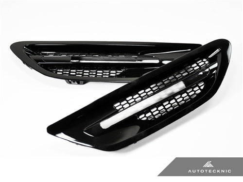 Shop AutoTecknic Replacement Glazing Black Fender Vents - F10 Sedan | M5 - AutoTecknic USA