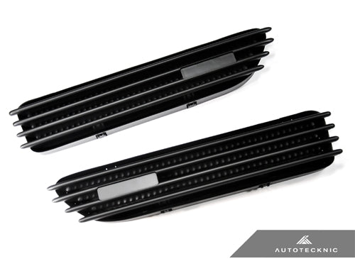 AutoTecknic Replacement Stealth Black Fender Gills - E46 Coupe & Cabrio | M3 - AutoTecknic USA