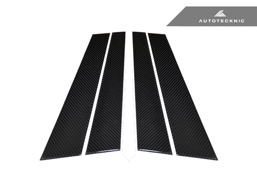 AutoTecknic Carbon Fiber B-Pillar Covers - BMW E34 Sedan - AutoTecknic USA