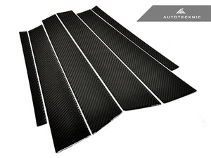 Shop AutoTecknic Carbon Fiber B & C Pillar Covers - BMW F30 3-Series Sedan - AutoTecknic USA