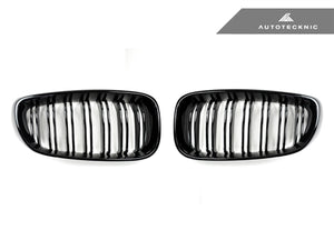 Shop AutoTecknic Replacement Dual-Slats Glazing Black Front Grilles - F34 3-Series Gran Turismo - AutoTecknic