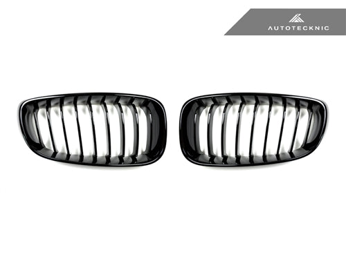 AutoTecknic Replacement Glazing Black Front Grilles - F34 3-Series Gran Turismo - AutoTecknic USA