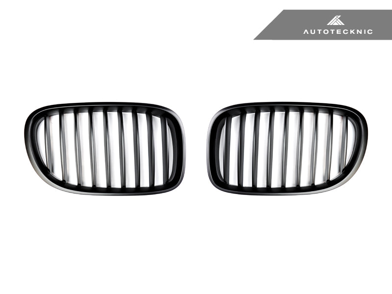 AutoTecknic Replacement Stealth Black Front Grilles - F01/ F02 7-Series LCI - AutoTecknic USA