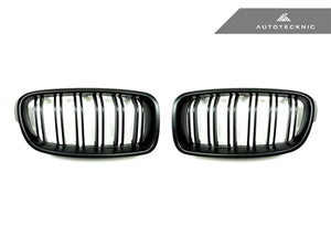 Shop AutoTecknic Replacement Dual-Slats Stealth Black Front Grilles - F30 3-Series - AutoTecknic USA