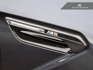 Shop AutoTecknic Dry Carbon Fiber Fender Light Trims - F06 M6 Gran-Coupe | F12 M6 Cabrio | F13 M6 Coupe - AutoTecknic USA