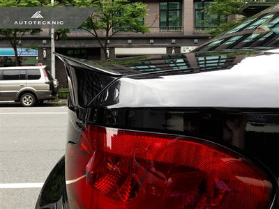 AutoTecknic Vacuumed Carbon Fiber Performante Trunk  Spoiler - E82 1-Series Coupe (2008-2012)