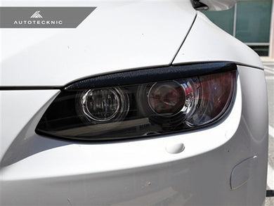 Shop AutoTecknic Stealth Black Headlight Covers - BMW E92/ E93 (pre-facelift) 3 Series Coupe/ Convertible & M3 - AutoTecknic USA