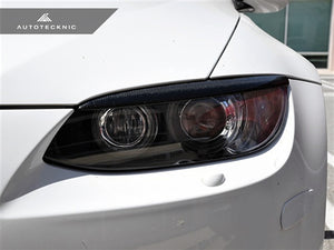 AutoTecknic Stealth Black Headlight Covers - BMW E92/ E93 (pre-facelift) 3 Series Coupe/ Convertible & M3