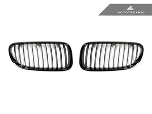AutoTecknic Replacement Glazing Black Front Grilles - E92 Coupe / E93 Cabrio | 3 Series LCI