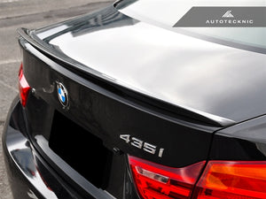 AutoTecknic Vacuumed Carbon Fiber Performante Trunk Spoiler - F32 4-Series Coupe