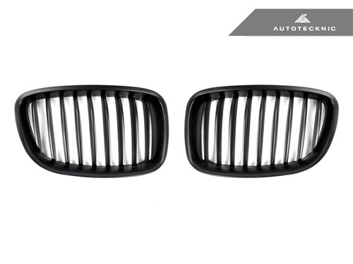 AutoTecknic Replacement Stealth Black Front Grilles - F07 5-Series Gran Turismo