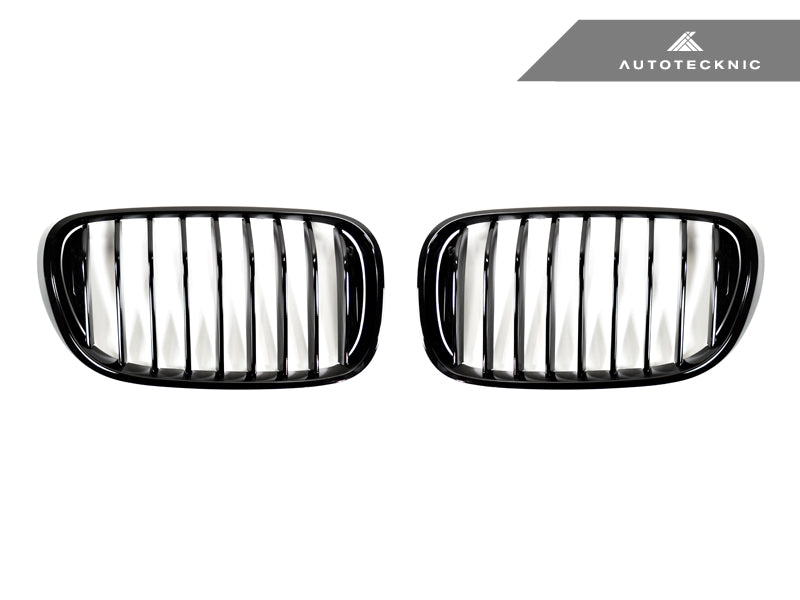 Shop AutoTecknic Replacement Glazing Black Front Grilles - G11/ G12 7-Series Pre-LCI (16-19) - AutoTecknic USA